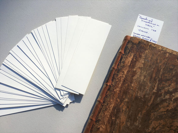 Archival acid-free bookmark for note- 30 bookmarks