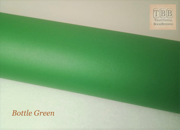 Quality Bookbinding Cloth- Durable buckram with paper backing- Bottle green