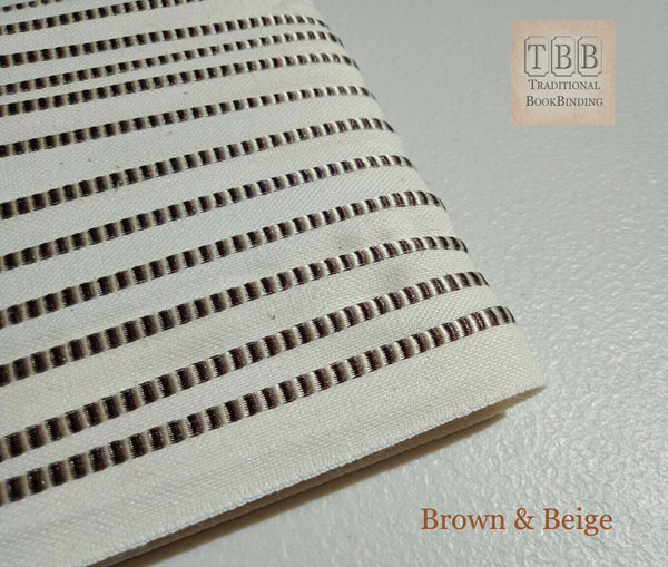 Quality bookbinding headband- Book endband- Brown & Beige