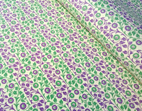 Green & Purple- Italian Decorative Paper- 100 GSM Thick paper for bookbinding- Suitable for book covers and end sheets