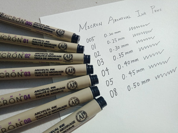 Archival acid-free ink pens