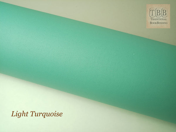 Quality Bookbinding Cloth- Durable buckram with paper backing- Light turquoise