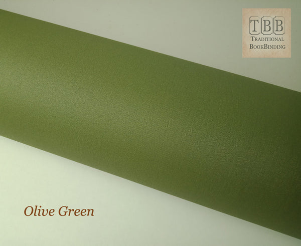 Quality Bookbinding Cloth- Durable buckram with paper backing- Olive green