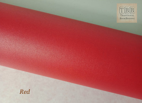 Quality Bookbinding Cloth- Durable buckram with paper backing- Red
