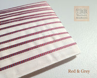Quality bookbinding headband- Book endband- Red & Grey