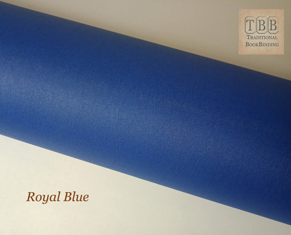 Quality Bookbinding Cloth- Durable buckram with paper backing- Royal blue