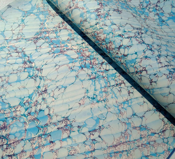 Printed marbled paper- HIGH DEFINITION- THICK 100gsm ACID FREE PAPER- Suitable for book covers and end sheets- TBBPM6