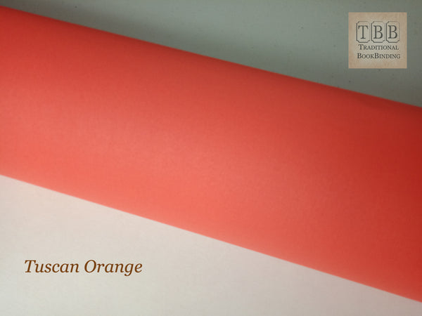 Quality Bookbinding Cloth- Durable buckram with paper backing- Tuscan orange