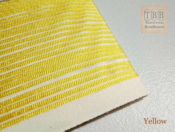 Quality bookbinding headband- Book endband- Yellow