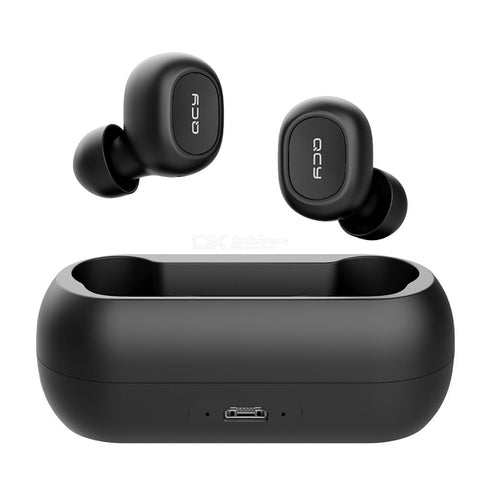QCY T1C Mini Wireless Bluetooth Earphones With Mic Sports Noise Cancelling Headset With Charging Box