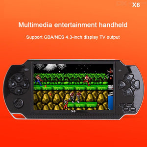 4.3 Inch Screen Game Console Handheld Game Player 8G Storage Multi Language 0.3MP Camera MP3 MP4 Support 32G