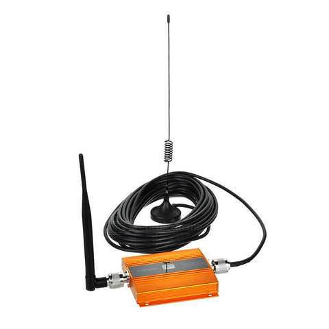 2G/3G/4G Cell Phone Signal Booster Amplifier w/ 0.6quot LCD - Golden