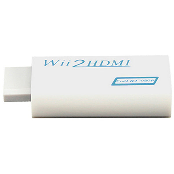 Wii to HDMI Wii2HDMI Adapter Converter + 3.5mm Audio Box - White