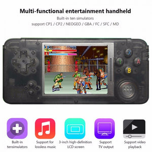 Mini Protable 3 Inch Retrogame Player Built-in 1151 Games Support For CP1 CP2 NEOGEO GBA FC MD Format Video Game Black