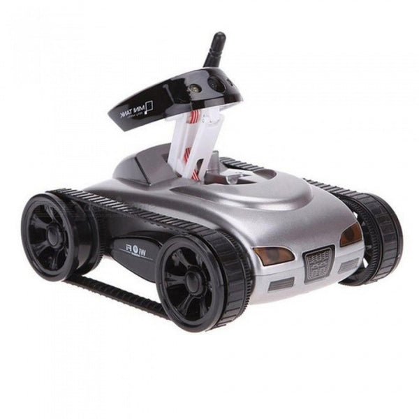 RC Mini Tank Car IOS Android Phone Remote Control 777-270 Wifi Spy Tanks Shoot Robot with 0.3MP Camera Toys for Children Adult Gray