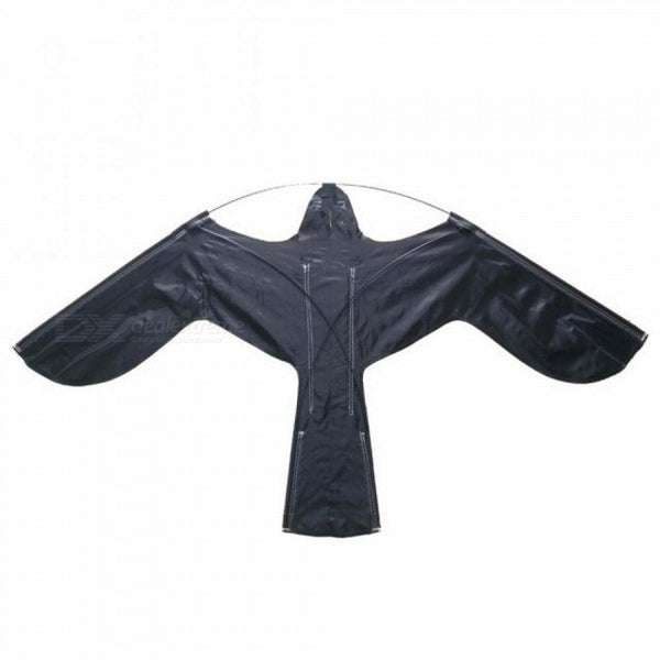 Hawk Kite Great As A Bird Scarer Scarecrow Performing Bird Control For Home and Garden-Black 120*66CM Black