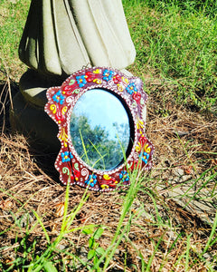 Handmade Traditional Ceramic Mirror