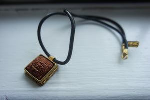 Handmade, Sumerian, Thin-Framed Wish Tablet Necklace