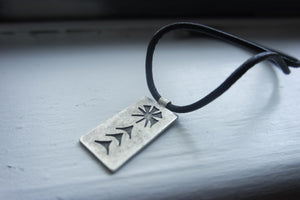 Handmade, Sumerian Necklace: Moon God Symbol