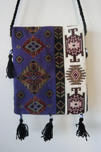 Load image into Gallery viewer, Authentic, handmade, handwoven kilim bags with evil eye beads and different patterns