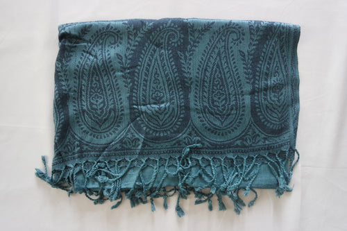 Turquoise Patterned Scarf