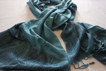 Load image into Gallery viewer, Turquoise Patterned Scarf