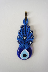 Hand-knit Evil Eye Wall Decor