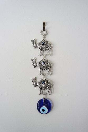 Silver-plated Camel Evil Eye Wall Decor