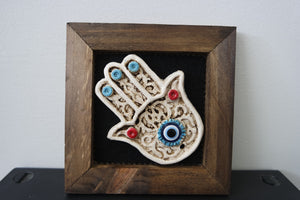 Evil Eye Framed Home Decor
