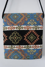 Load image into Gallery viewer, Authentic Handwoven Turkish Kilim Bag with Evil Eye Beads