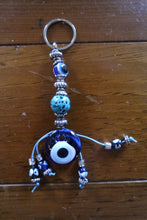 Load image into Gallery viewer, Handmade Beaded Evil Eye Key Chains