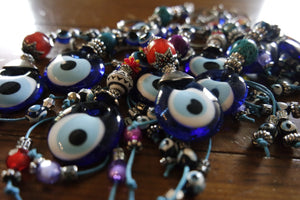 Handmade Beaded Evil Eye Key Chains