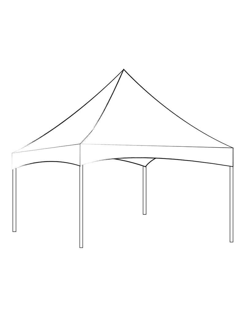 30' x 30' White Solid Top Frame Tent