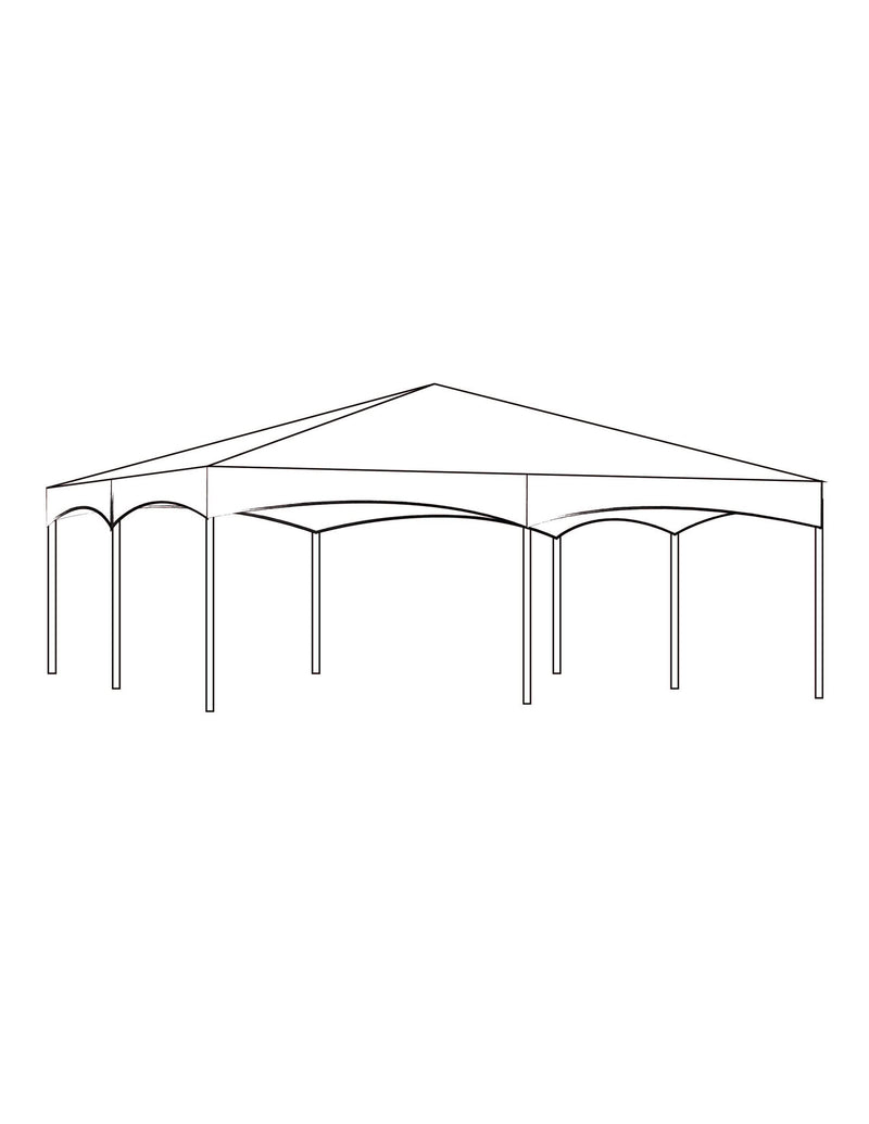 30' x 50' Hip Tent - Clear