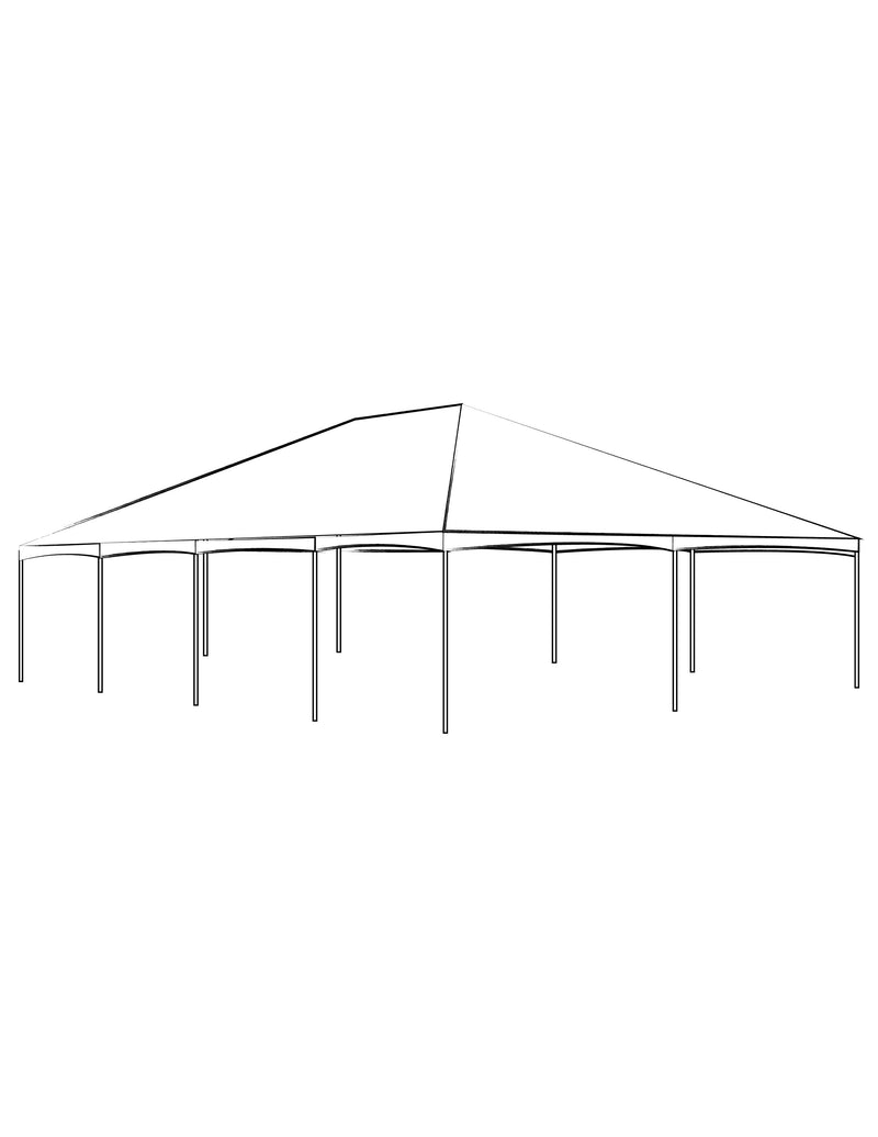 30' x 40' White Solid Top Frame Tent - Alpine Event Co.