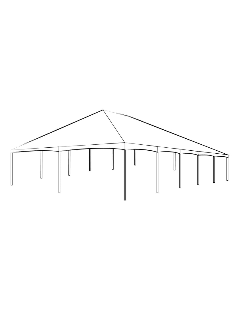 30' x 50' Clear Top Frame Tent - Alpine Event Co.