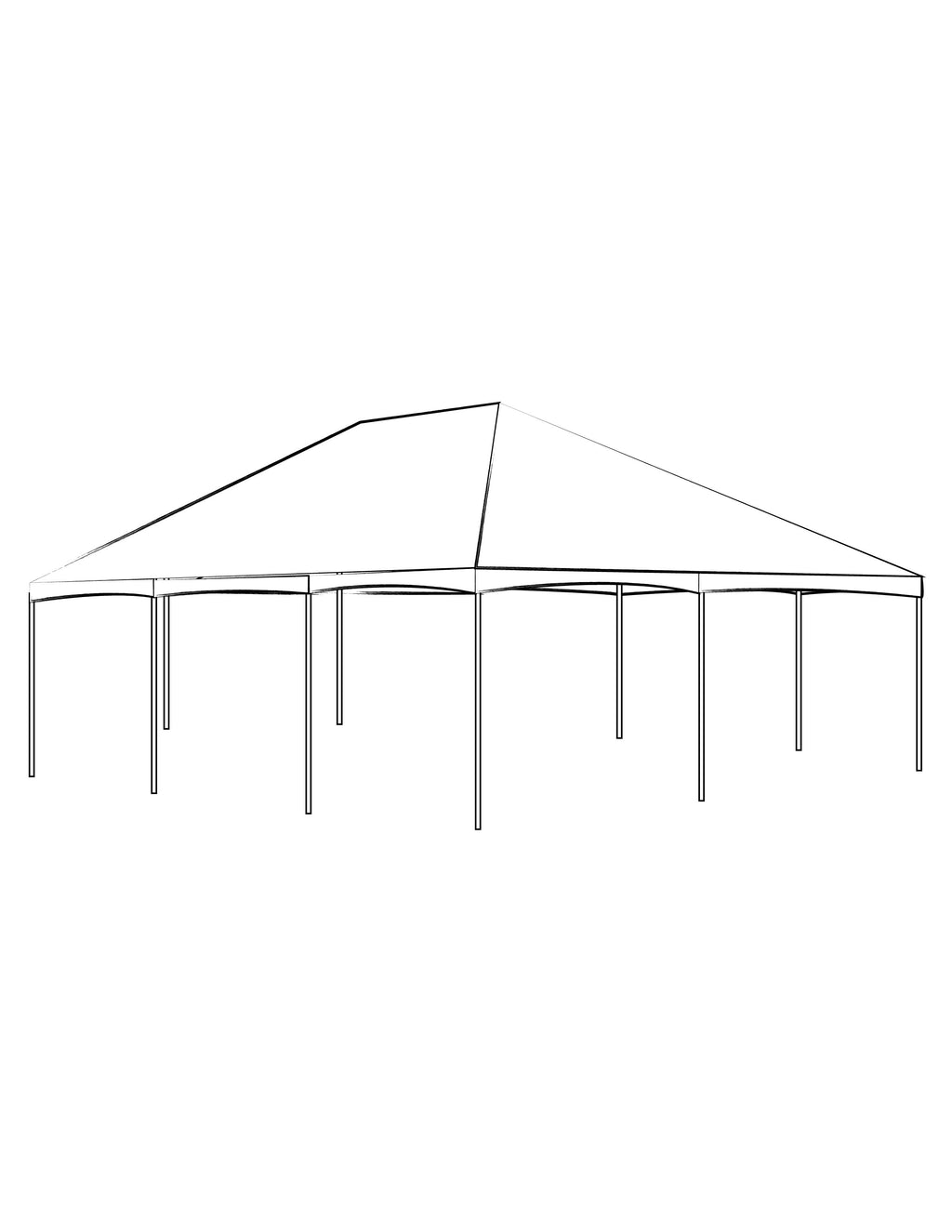 40' x 60' White Solid Top Frame Tent - Alpine Event Co.