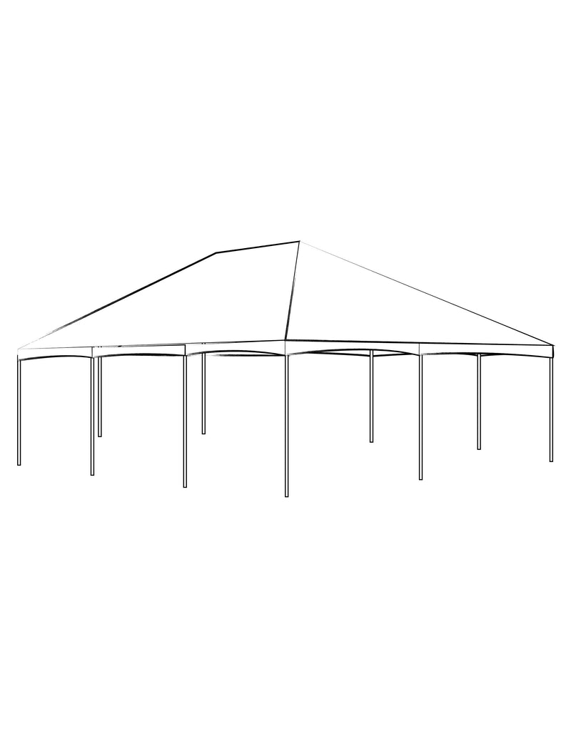 40' x 80' Hip Tent - Clear