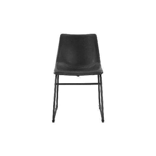 Black Leatherette Chair - Alpine Event Co.