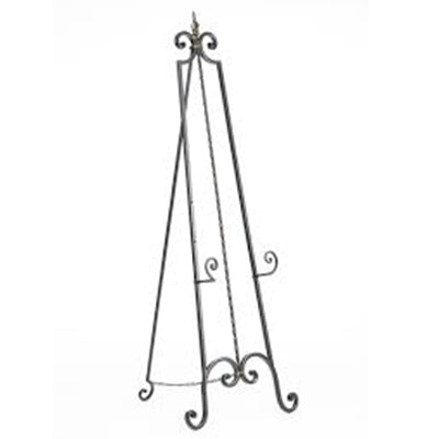 Ornate Black Wrought Iron Easel - Alpine Event Co.