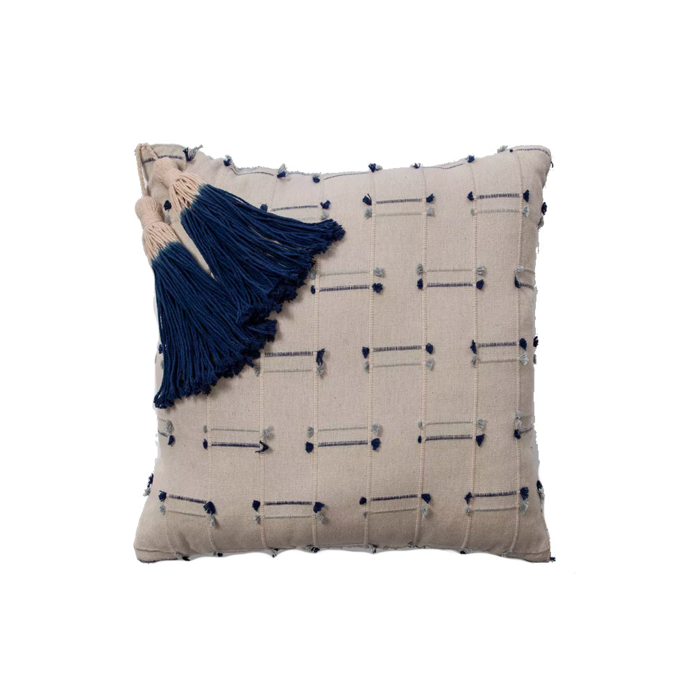 Blue Washed Tassel Pillow - Alpine Event Co.