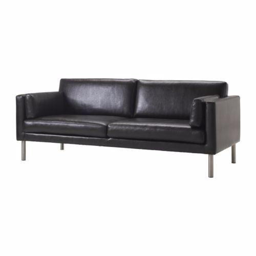 Brown Leather Loveseat - Alpine Event Co.