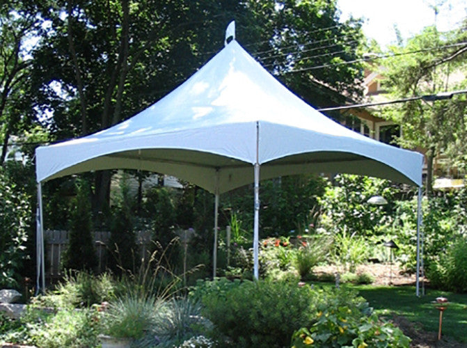 10' x 10' White Solid Top High Peak Tent - Alpine Event Co.
