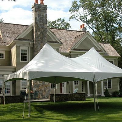 20' x 40' White Solid Top High Peak Tent