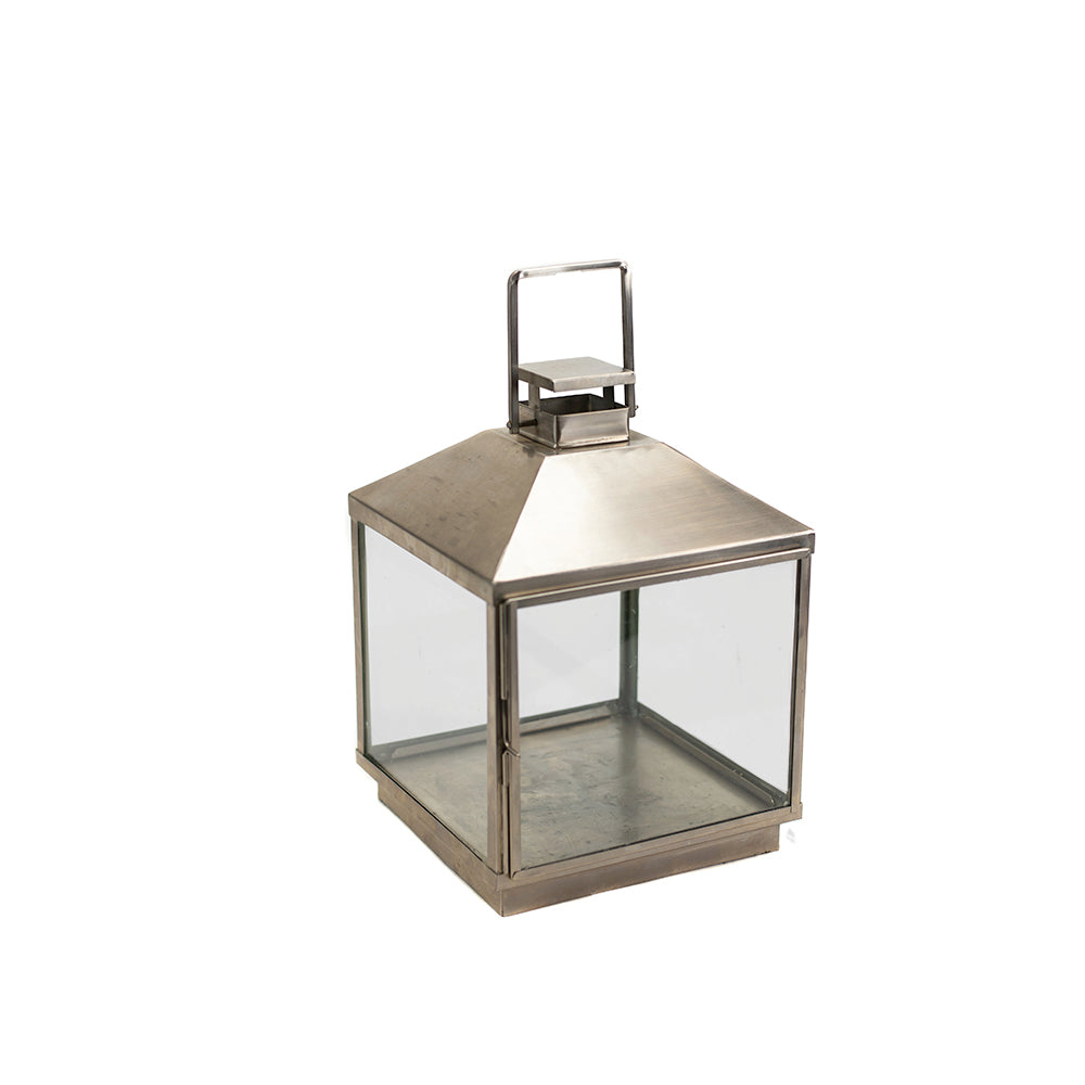 Brushed Stainless Carriage Lantern - Alpine Event Co.