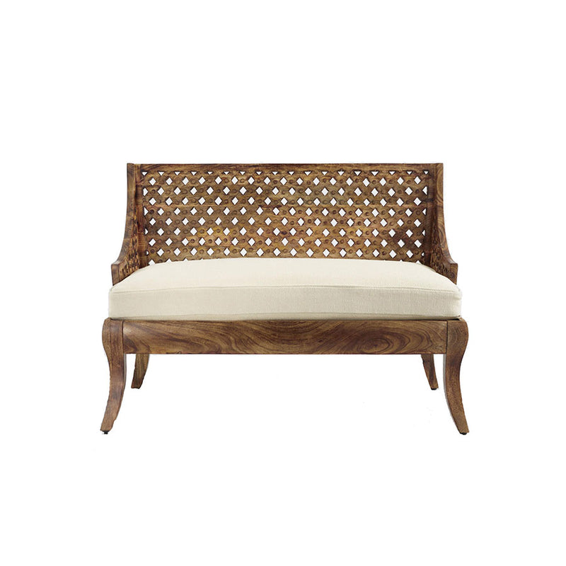 Carved Wood Loveseat - Alpine Event Co.