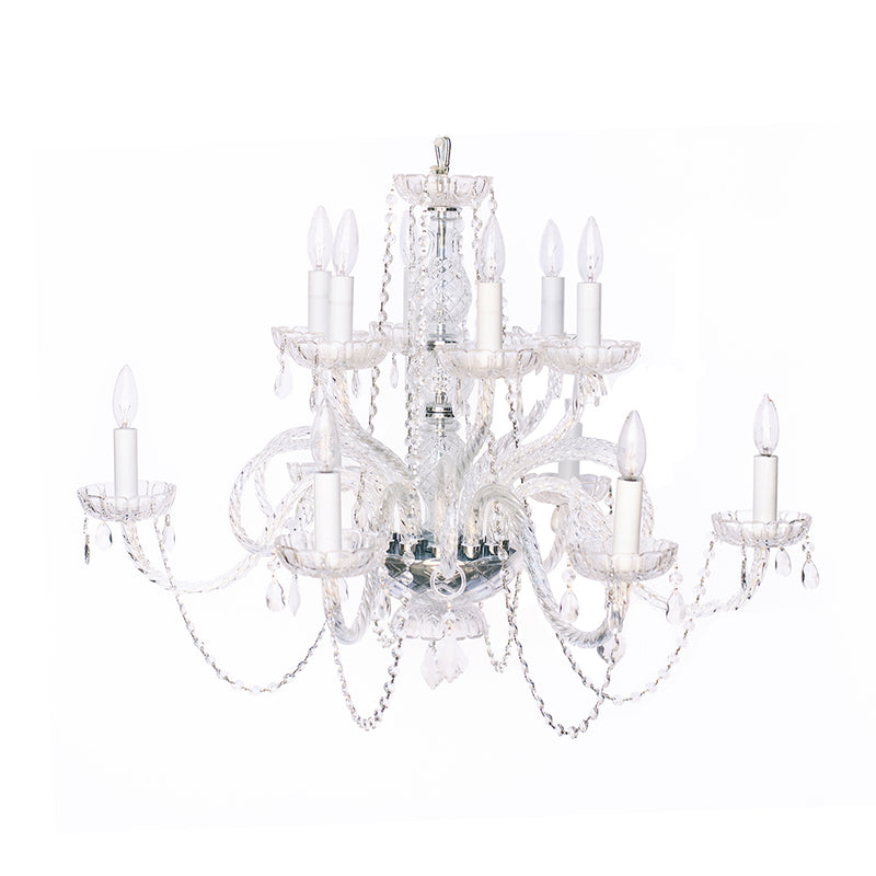 Crystal Chandelier 2-Tier - Alpine Event Co.
