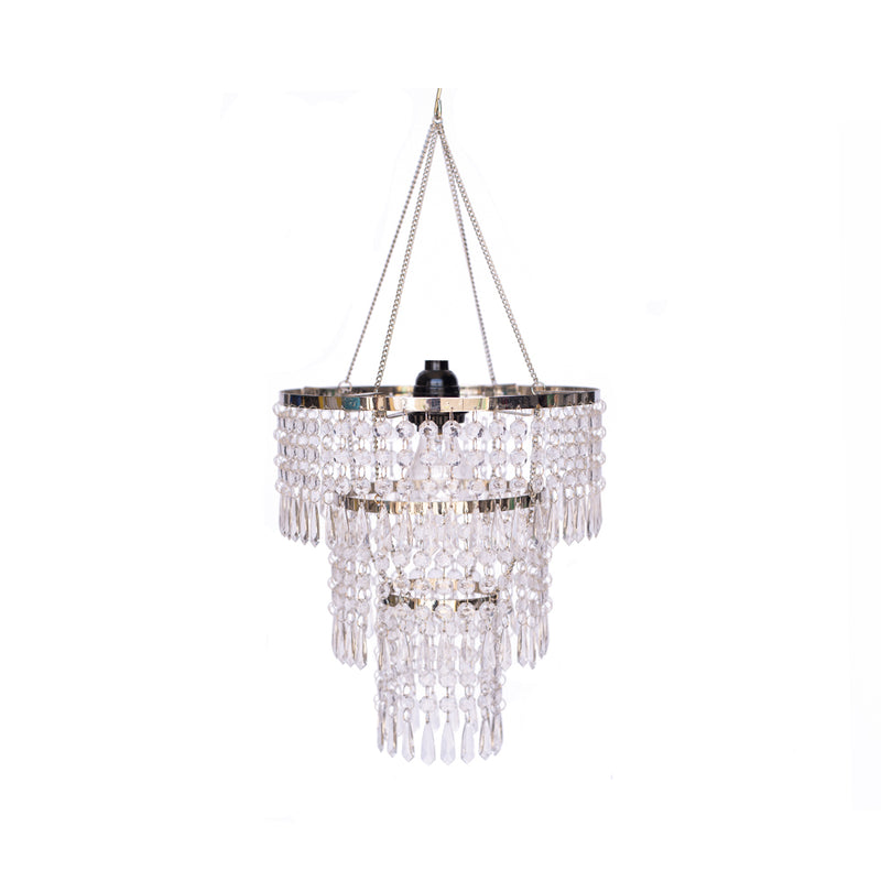 Crystal Pendant Chandelier 3-tier - Alpine Event Co.