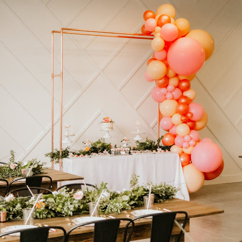 Double Copper Metal Arch - Alpine Event Co.