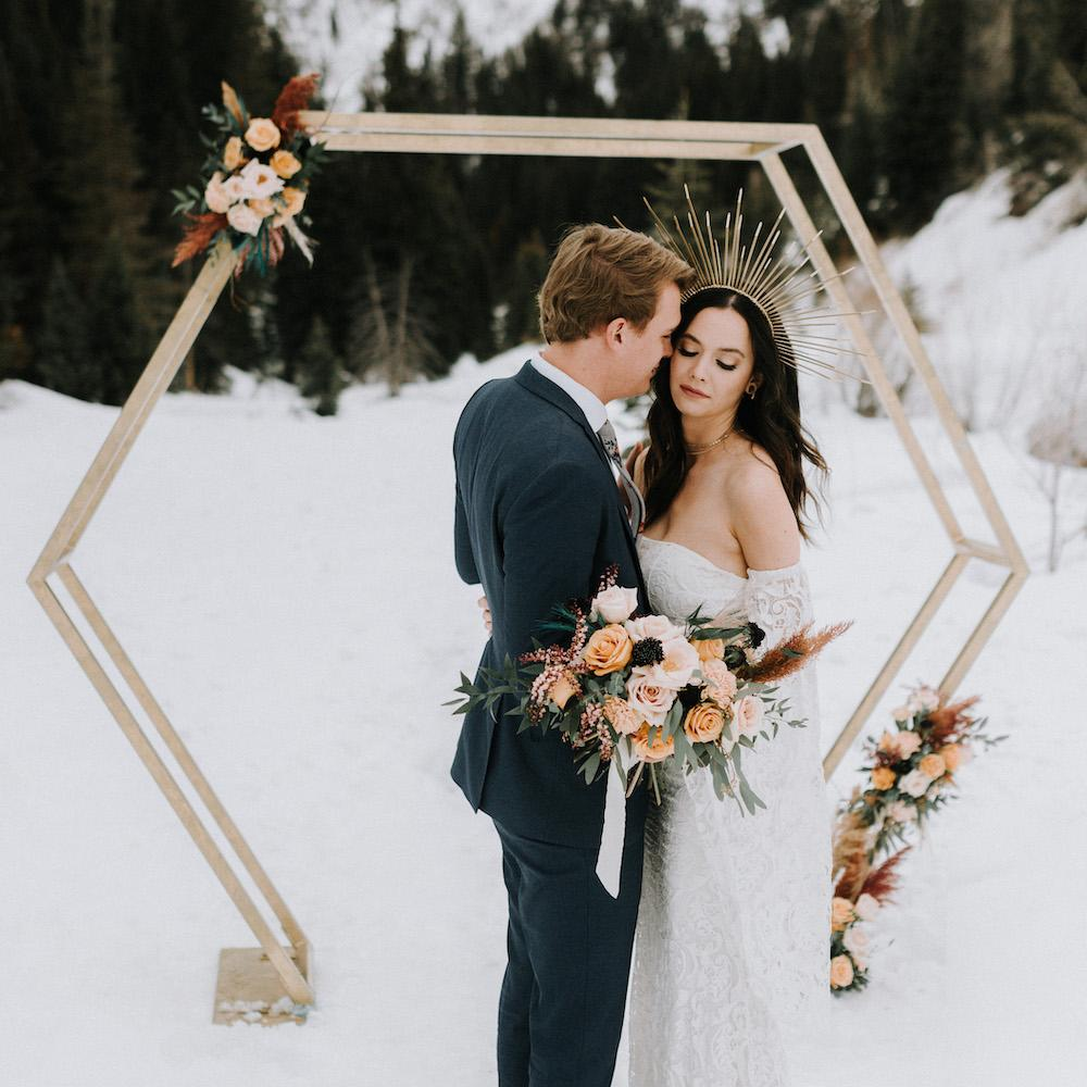 Geometric Elopement - Alpine Event Co.